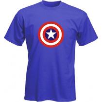 Camiseta Escudo Capitão América - Camisas Super Heróis