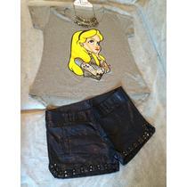 T Shirt Princesas Disney Rebelde Tatuada, Pronta Entrega