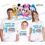 Lembrança De Aniversario Disney Baby Mickey Camiseta Com 3