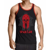 Camiseta Regata Treino Mma Elmo Espartano Spartan Academia