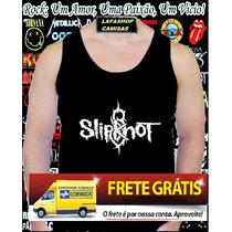 Camiseta Regata Slipknot Camisa Banda Rock Punk Metal Dvd Cd