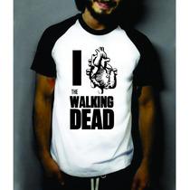 Camiseta Raglan Manga Curta I Love The Walking Dead