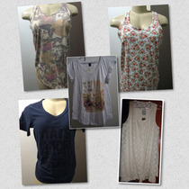 Kit 5 Camisetas Regatas E T Shirts Femininas Hering