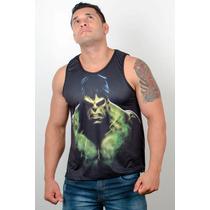 Regata Machão Cavada Heróis Musculação Academia Hulk 02