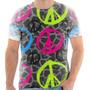 T Shirt Camisa Camiseta - Simbolo Da Paz Colorido 02