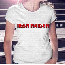 Camiseta Mais Barata Do Ml Feminina Banda Iron Maiden
