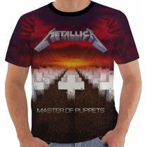 Camiseta Metallica Color Masters Of Puppets Album Capa