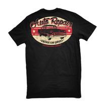 Camiseta Masculina Carro 100%algodão Preta Vintage New Old