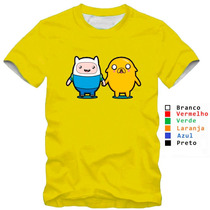Camiseta Infatil Jake Hora De Aventura Baby Look Feminina