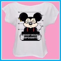 Blusa Feminina Bad Mickey Mouse, Fashion, Desenho, Personali