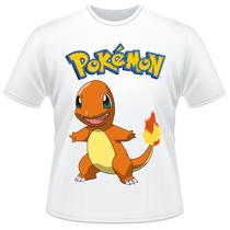 Camiseta Pokemon Charmander Anime Desenho Camisa