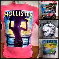 5 Camisetas-hollister-abercrombie Preço De Custo Originais