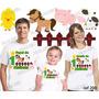Lembrança De Aniversario Fazendinha Camiseta Kit Com 3
