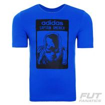 Camiseta Adidas Capitão América - Futfanatics
