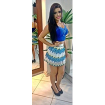 Cropped Renda Mini Blusa Com Bojo Varias Cores