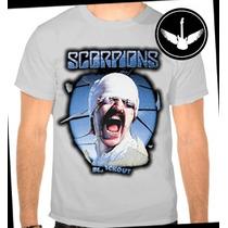 Camiseta Scorpions Baby Look Regata Banda Rock Camisa Blusa