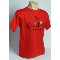 Camiseta Bordada Sou Católico Feminina E Masculina