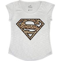 Blusinha Feminina Super Girl Oncinha