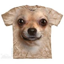 Camisa 3d Chihuahua Face The Mountain Original