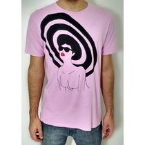 Camisetas Mulher Pelada Com Chapéu Pintada Á Mão // Rauser