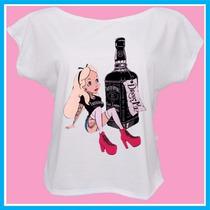 Blusa Camiseta Princesas Tatuadas, Disney, Tattoo, Whisky