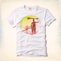 Camiseta Camisa Cover Hollister 100% Original Tam. Gg