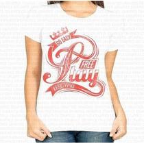 Promoção! Camiseta Feminina Go Easy Free Stay