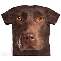 Camisa 3d Chocolate Lab Face The Mountain Original