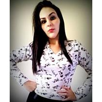 Blusa De Frio Feminina Bichinhos (sueter Gola V)