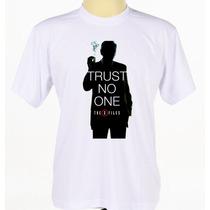 Camisa Camiseta Estampada Série The X-files Arquivo X