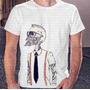 Camisa Estampa Masculina Caveira Nerd Skull Color