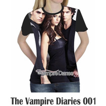 Camiseta Blusa Person. Séries The Vampire Diaries Feminina