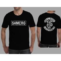 Camiseta Sons Of Anarchy Seriado Samcro, Harley Davidson