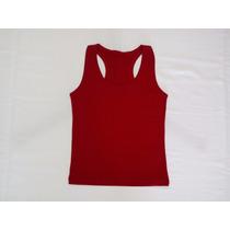 Camiseta Regata De Malha Viscolycra Costas Nadador Feminina