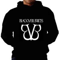 Blusa Moletom Black Veil Brides Capuz Bolso Banda Moleton Bv