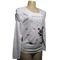 Blusa Camisa Feminina De Manga Longa Estampada Linda 2015