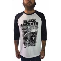 Camisetas Raglan 3/4 Bandas Rock Black Sabbath Ozzy Osbourne