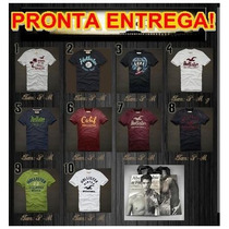 Camisetas Abercrombie & Fitch Hollister Af + Sacola Original