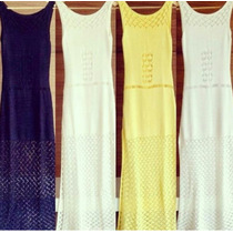 Vestido Longo Trico Croche Moda Verão