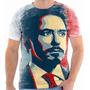 Camiseta - Camisa Iron Man Homem De Ferro Marvel Tony Stark
