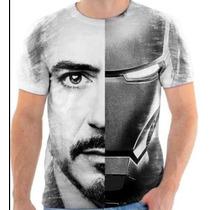 Camisetas Camisa Blusa Personalizada Homem De Ferro