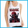 Regata Feminina Deadpool, Filme, Cinema, Marvel, Engraçada