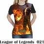 Camiseta Blusa Games League Of Legends Feminina Lol 021