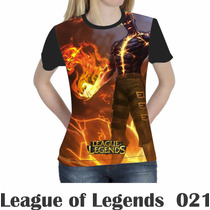 Camiseta Blusa Games League Of Legends Feminina Lol 021
