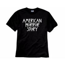 Camiseta Série American Horror Story Ahs Escrita Basica