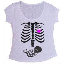 Blusa Tecido Flame Grávida Gestante Camiseta Personalizamos