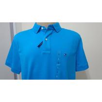 Camisa Polo Tommy Hilfiger Tam G Cor Azul Original
