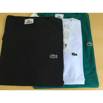 Kit 2 Camisetas Lacoste Original Lisa Basica + Frete Grátis