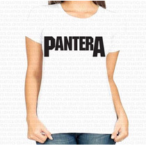 Camiseta Mais Barata Do Ml Feminina Banda Pantera Rock