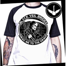 Camiseta Raglan Black Veil Brides Baby Look Banda Rock